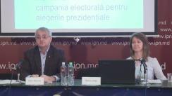 """Conferință de presă cu tema """"Monitorizarea mass-mediei în perioada electorală: prezentarea raportului nr. 3 (7 octombrie 2016 - 13 octombrie)"""""""