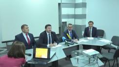 """Conferința de presă dedicată lansării și prezentării programelor de granturi investiționale destinate """"Facilitării accesului la piețele de desfacere"""" și """"Managementului durabil al terenurilor"""", în cadrul Proiectului Agricultura Competitivă în Moldova (MAC-P)"""