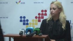 Declarațiile Marinei Tauber, reprezentatul candidatului la funcția de președinte al Republicii Moldova Inna Popenco, după ședința Comisiei Electorale Centrale din 20 octombrie 2016