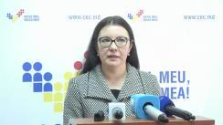 Declarațiile Alinei Russu înainte după Ședința Comisiei Electorale Centrale din 21 octombrie 2016