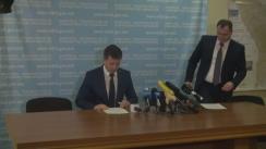 Conferință de presă susținută de viceministrul Transporturilor, Serghei Bucataru, cu privire la protestele micilor transportatori internaționali de pasageri și colete