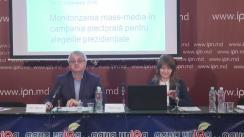 """Conferință de presă cu tema """"Monitorizarea mass-mediei în perioada electorală: prezentarea raportului nr. 4 (14 - 20 octombrie 2016)"""""""