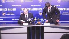 Conferință de presă organizată de Procuratura Generală privind operațiunea de reținere a mai multor persoane implicate în traficul ilicit de droguri