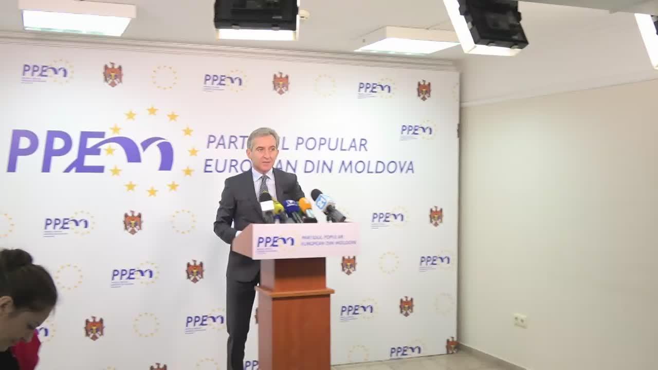 Conferință de presă susținută de candidatul PPEM pentru alegerile la funcția de Președinte a Republicii Moldova, Iurie Leancă