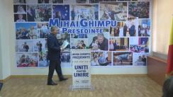 Conferință de presă susținută de candidatul la funcția de președinte al Republicii Moldova din partea Partidului Liberal, Mihai Ghimpu