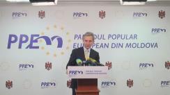 Briefing susținut de candidatul PPEM pentru alegerile la funcția de Președinte a Republicii Moldova, Iurie Leancă