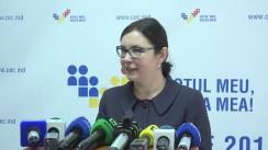 Declarațiile Alinei Russu după Ședința Comisiei Electorale Centrale din 28 octombrie 2016