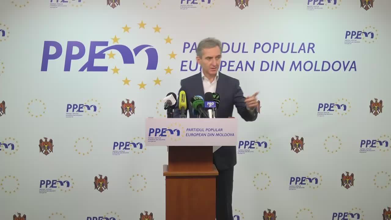 Conferință de presă susținută de președintele PPEM, Iurie Leancă