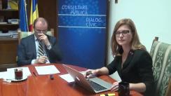 """""""De vorbă cu Ministrul tău"""" – inițiativa MCPDC, invitat Achim Irimescu, Ministrul Agriculturii și Dezvoltării Rurale. Moderator Maria Smarandache, consilier de presă MCPDC"""