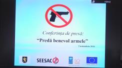 """Lansarea campaniei de sensibilizare a publicului privind predarea voluntară a armelor de foc deținute ilegal """"Ajută Republica Moldova să devină o țară mai sigură"""""""