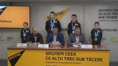 Conferință de presă dedicată victoriei sportivilor moldoveni din cadrul Campionatului Mondial de Lupte Unificate din orașul Carrara, Italia