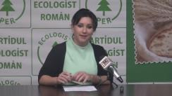 Conferința de presă organizată de Partidul Ecologist Român