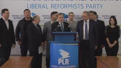 Conferință de presă organizată de Partidul Liberal Reformator