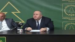 Conferință de presă organizată de Partidul Ecologist Român