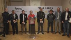 """Conferință de presă cu tema """"Echipa Maiei Sandu vine cu unele precizări privind desfășurarea campaniei electorale"""""""