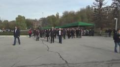 Miting organizat de Partidului Comuniștilor din Republica Moldova cu ocazia aniversării a 99 de ani de la marea revoluție sovietică socialistă din Octombrie