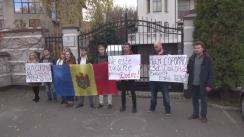 Flashmob organizat de tineretul Partidului Acțiune și Solidaritate, PAS Youth, pentru a transmite un mesaj de prietenie Ucrainei