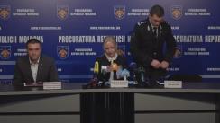 Conferință de presă organizată de Procuratura Generală privind finalizarea urmăririi penale și expedierea în judecată a unui grup criminal organizat, specializat în spălare de bani și evaziune fiscală în proporții deosebit de mari