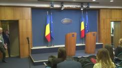 Declarații de presă susținute de Premierul Dacian Cioloș
