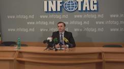 """Conferință de presă susținută de fostul prim-ministru, Vasile Tarlev, cu tema """"Situația social-economică din țară și propuneri pentru dezvoltarea acesteia"""""""