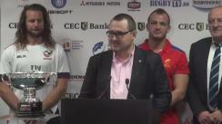 Conferință de presă organizată de Federația Română de Rugby prilejuită de disputarea primului meci test al toamnei