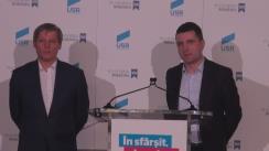 Declarații de presă susținute de Premierul României, Dacian Cioloș, și președintele USR, Nicușor Dan