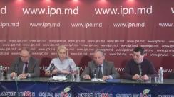 """Conferință de presă cu tema """"Poziția reprezentanților mai multor etnii din Moldova vizavi de politicile educaționale, promovate de Maia Sandu, precum și pe marginea alegerilor prezidențiale"""""""