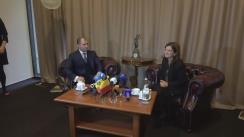 Conferință de presă susținută de miniștii Justiției din Republica Moldova și România, Vladimir Cebotari și Raluca Prună