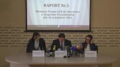 Prezentarea de către Asociația Promo-LEX a raportului nr. 5 al Misiunii de Observare a Alegerilor Președintelui Republicii Moldova din 13 noiembrie 2016