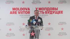 Conferință de presă susținută de Igor Dodon
