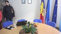 """Întrevederea reprezentantului protestatarilor, președintele Asociației """"Onoare, Demnitate și Patrie"""" (ODIP), Vlad Bilețchi, cu președintele Comisiei Electorale Centrale, Alina Russu"""