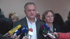 Declarații de presă după ședința Consiliului Republican al PSRM