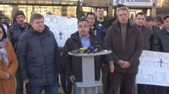 """Conferință de presă organizată de Partidul Nostru cu tema """"Regimul lui Plahotniuc continuă represiunile împotriva Partidului Nostru"""""""