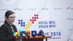 Declarațiile Alinei Russu după Ședința Comisiei Electorale Centrale din 18 noiembrie 2016