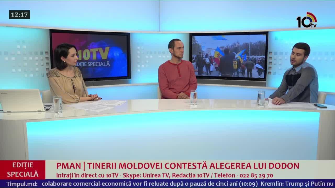 EDIȚIE SPECIALĂ 10TV - PMAN | Tinerii Moldovei contestă alegerea lui Dodon