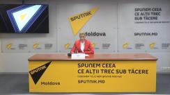 """Conferință de presă susținută de purtătorul de cuvânt al președintelui Partidului ȘOR, Ilan Șor, Alina Șargu, cu tema """"Activitatea Partidului Politic Șor. Situația politică actuală."""""""