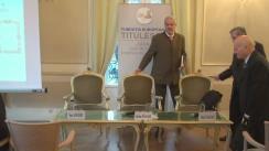 """Dezbaterea organizată de Fundația Titulescu cu tema """"Conexiuni politico-diplomatice în constituționalismul democratic 1866-1991"""""""