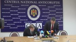 Conferință de presă organizată de CNA și Procuratura Anticorupție pe marginea perchezițiilor din această dimineață