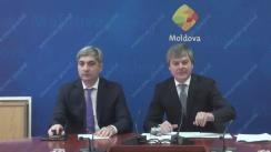 Conferință de presă susținută de viceministrul Economiei, Valeriu Triboi, și directorul Agenției pentru Eficiență Energetică, Mihail Stratan, cu ocazia lansării Săptămânii Eco Energetice