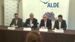 Conferință de presă susținută de copreședinții ALDE, Călin Popescu-Tariceanu și Daniel Constantin, pe tema Programului de guvernare al ALDE pentru educație