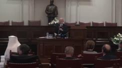 Sesiune solemnă omagială organizată de Academia Română pentru a sărbători Ziua Marii Uniri de la 1918 și a evoca participarea României la Primul Război Mondial