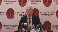 Briefing susținut de către președintele CSM, Victor Micu, cu privire la reorganizarea instanțelor judecătorești