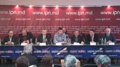 """Conferință de presă cu tema """"Premieră pentru Republica Moldova - 1 kilometru de tricolor pe 1 decembrie 2016"""""""