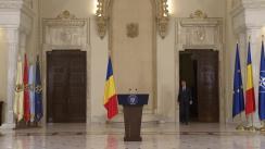 Declarații de presă susținute de Președintele României, Klaus Iohannis, în urma Ședinței Consiliului Suprem de Apărare a Țării