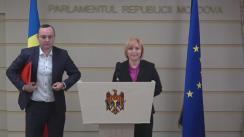 Declarațiile lui Vlad Bătrîncea și a Oxanei Domenti după Ședința Parlamentului Republicii Moldova din 2 decembrie 2016