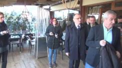 Declarații de presă susținute de copreședintele ALDE, Călin Popescu-Tăriceanu, alături de alți lideri ai partidului