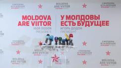 Conferință de presă susținută de președintele ales al Republicii Moldova, Igor Dodon