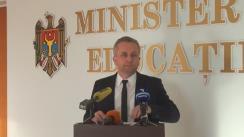 """Briefing de presă cu tema """"Rezultatele testării din cadrul Programului pentru Evaluarea Internațională a Elevilor PISA 2015"""""""