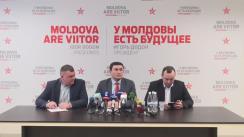 """Conferință de presă susținută de deputații socialiști Vlad Batrîncea, Grigore Novac și Vladimir Odnostalko cu tema """"Poziția PSRM față de reforma sistemului de pensii"""""""