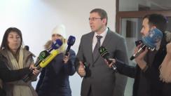 Declarație de presă susținută de șeful Procuraturii Anticorupție, Viorel Morari